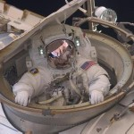 This is what it looks like when a spacewalking astronaut calls it a day. Time to head inside! Astronaut Andrew Feustel re-enters the International Space Station after completing an eight-hour, seven-minute spacewalk in the spring of 2011. Image Credit: NASA