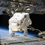 "Here we see astronaut Mike Fossum during a seven-hour, 11-minute spacewalk. Fossum and another astronaut, Ron Garan, performed several tasks related to the ""Kibo"" Japanese Pressurized Module (JPM) on the International Space Station. They also prepared an auxiliary nitrogen tank assembly for installation and retrieved a failed television camera. Never a dull moment! Image Credit: NASA"
