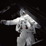 "In this picture, we step back in time a bit to 1969's Apollo 9 mission. Astronaut Russell Schweickart, the mission's lunar module pilot, stands on the module's deck during a spacewalk. The image was taken from inside the lunar module ""Spider"" by mission commander James McDivitt. Apollo 9 was the first manned flight of the command/service module along with the lunar module. The mission's crew tested several things that were critical to landing on the moon, including the lunar module's engines, backpack life support systems, navigation systems and docking maneuvers. It was the third manned mission of the Apollo program, launching on March 3, 1969. The crew spent 10 days in low-Earth orbit. Of course, it would only be a few months later, on July 20, 1969, that mankind would visit the moon for the first time, on the historic Apollo 11 mission. Image Credit: NASA/James McDivitt"