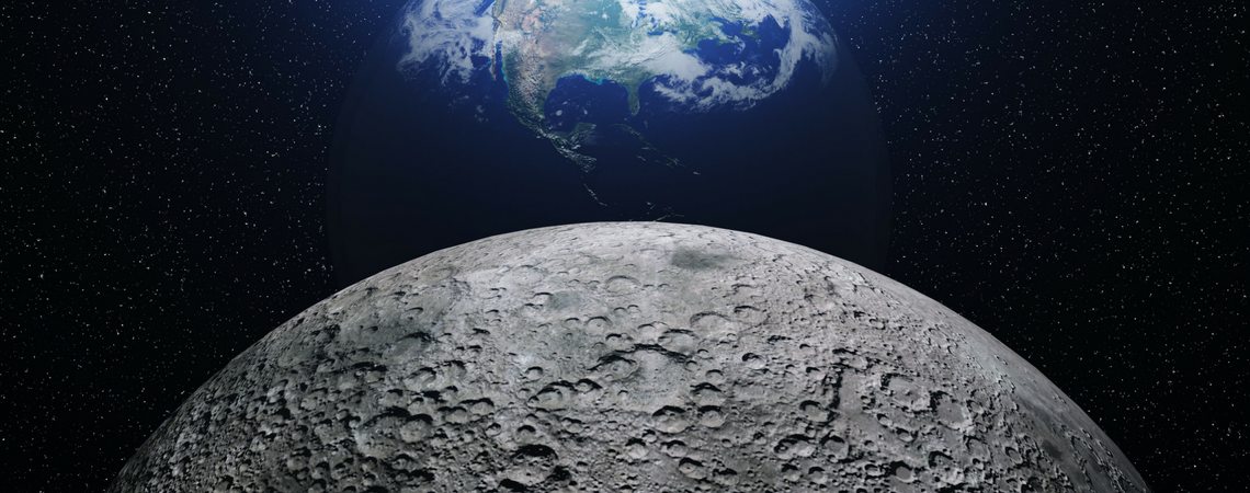 Moon and Earth 1140x450