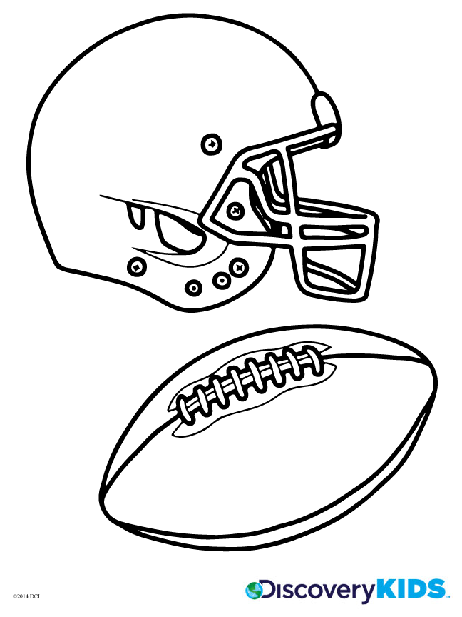 Football Coloring Page Discovery Kids