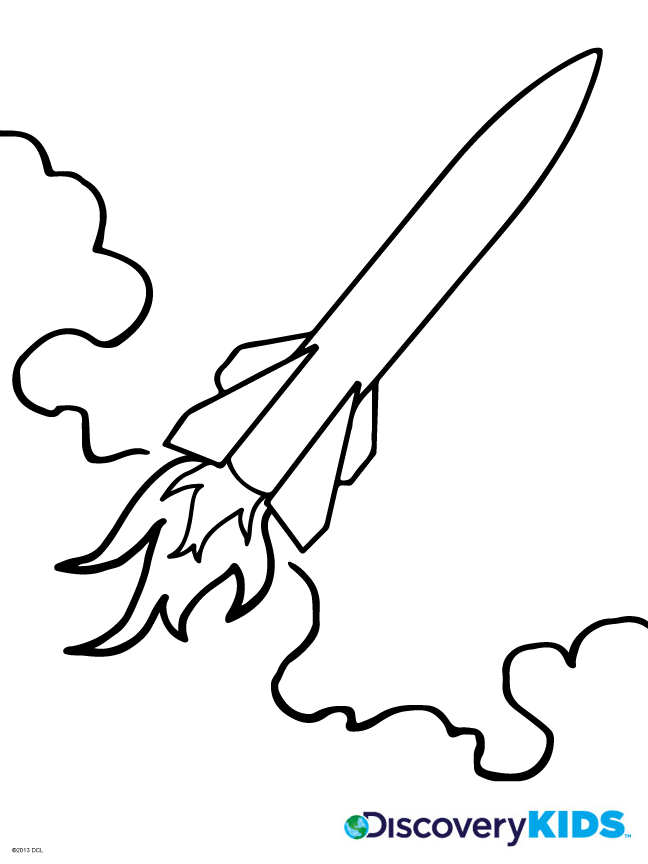 Rocket Coloring Page Discovery Kids