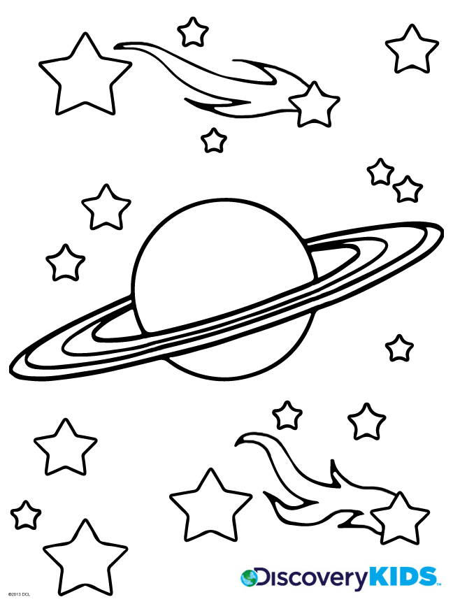 Saturn Coloring Page | Discovery Kids