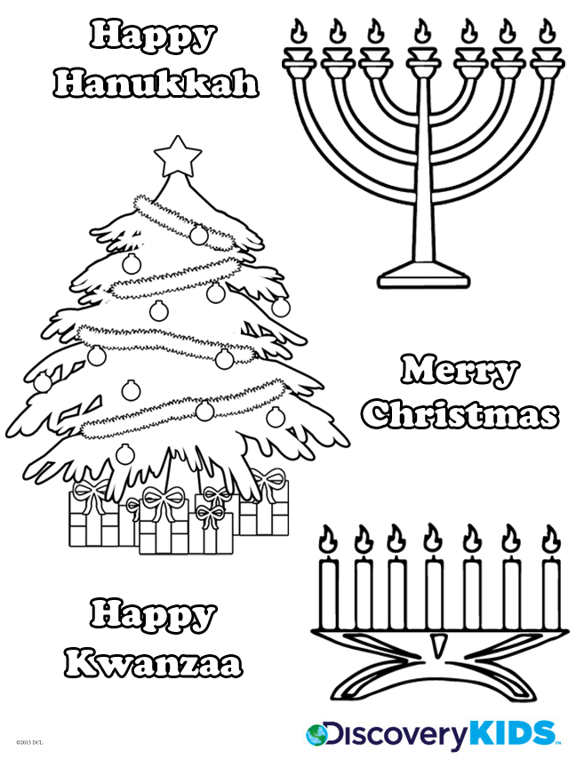 Winter Holidays Coloring Page