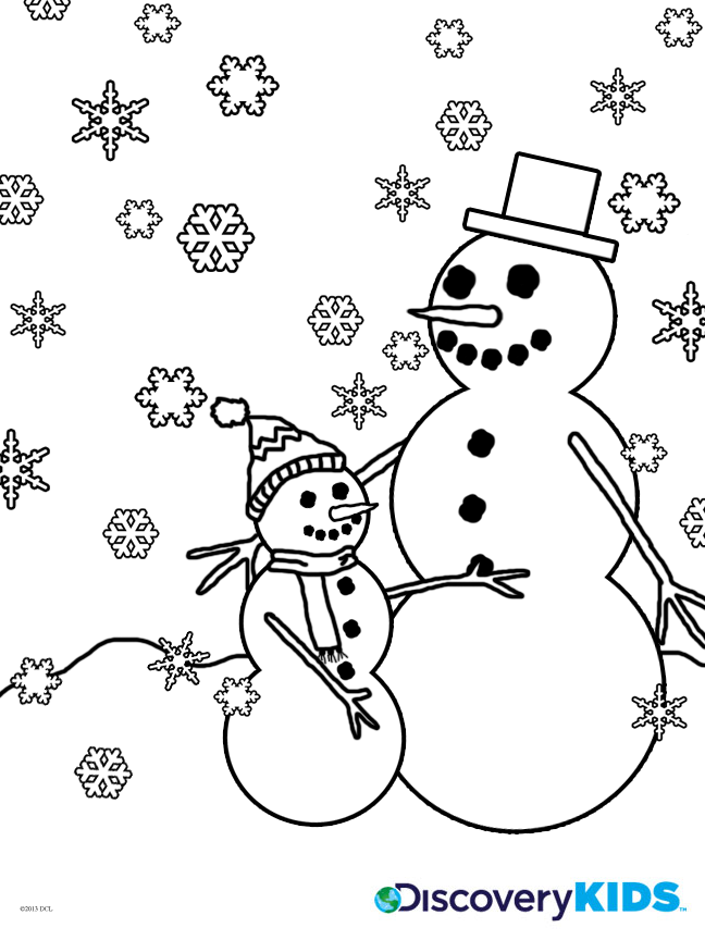 Activity: Snowman Coloring Page Print