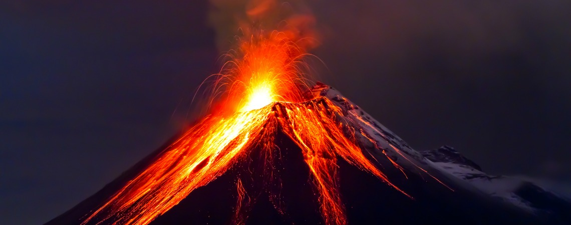 Where's the most active volcano in the world?
