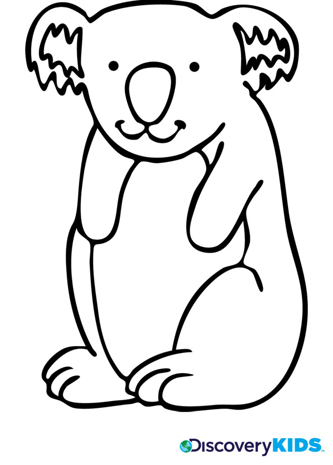 k is for koala bear coloring pages - photo #20